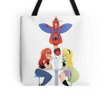Upside Down Love Triangle Tote Bag