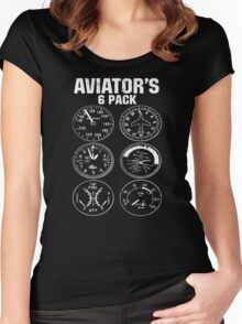 Aviator Six Pack Women's Fitted Scoop T-Shirt