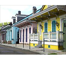 Colorful Shotguns/ New Orleans French Quarter Photographic Print