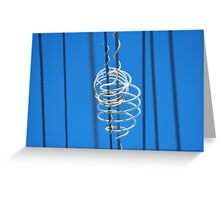 White Plastic Scrolls on Telephone Lines Greeting Card