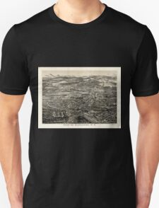 Panoramic Maps City of Kingston NY Unisex T-Shirt