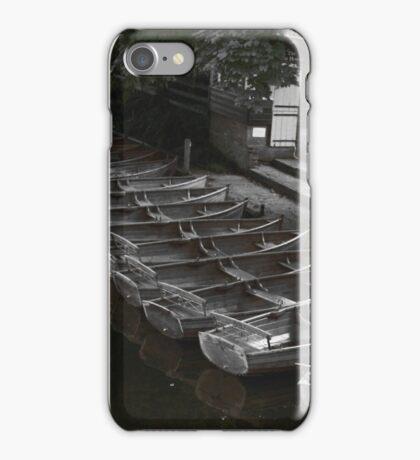 Row of boats - Dedham iPhone Case/Skin