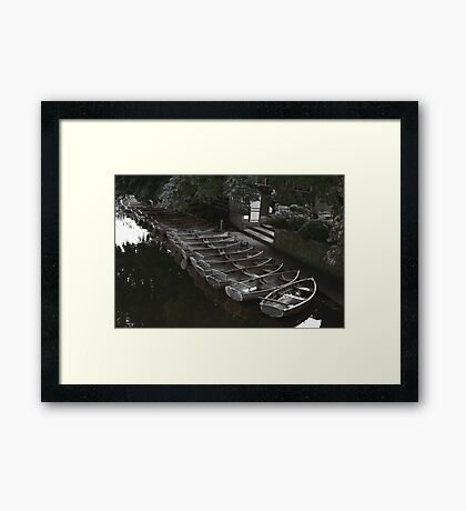 Row of boats - Dedham Framed Print