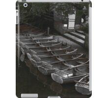 Row of boats - Dedham iPad Case/Skin