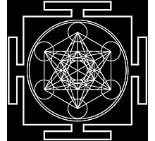 Metatron's Cube - White Photographic Print