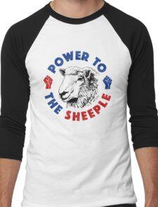 Power To The Sheeple Men's Baseball ¾ T-Shirt