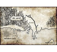 Map - Fated: Blood and Redemption Photographic Print
