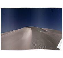 Formby Bay Sand Dune in Moonlight Poster