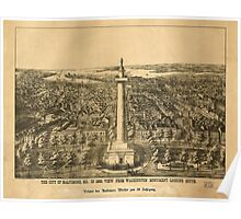 Panoramic Maps The City of Baltimore Maryland 1880 Viewed from the Washington Monument Poster
