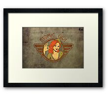 Atomic Girl  Framed Print