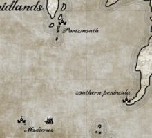 Map - Caged: Love and Treachery on the High Seas Sticker