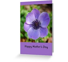 Happy Mother's Day Anemone Greeting Card