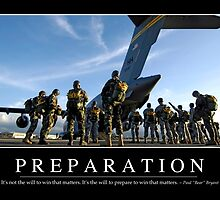 Preparation: Inspirational Quote and Motivational Poster by StocktrekImages