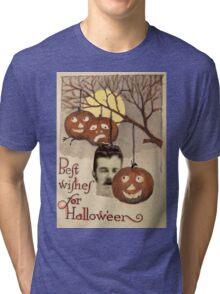 Best wishes (Vintage Halloween Card) Tri-blend T-Shirt