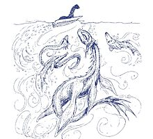 New Kid on the Loch (pen & ink) Photographic Print