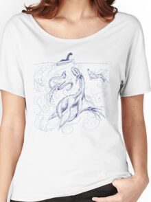 New Kid on the Loch (pen & ink) Women's Relaxed Fit T-Shirt