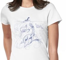 New Kid on the Loch (pen & ink) Womens Fitted T-Shirt