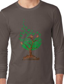 Abstract tree with birds Long Sleeve T-Shirt