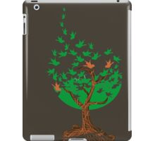 Abstract tree with birds iPad Case/Skin
