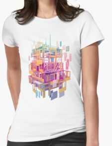 Building Clouds Womens Fitted T-Shirt