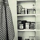 """Kitchen - Spice Cupboard - 1940's""   by waddleudo"