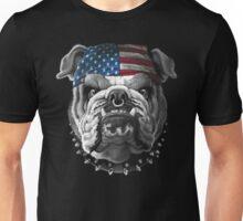 Bulldog Wearing Bandana Cool Dog Unisex T-Shirt