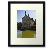 Moated house Framed Print
