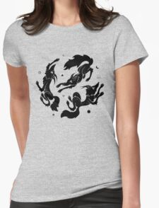 Dancing Wolves Womens Fitted T-Shirt
