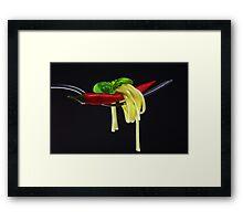 Hot Pasta Framed Print
