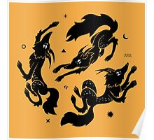 Dancing Wolves Poster
