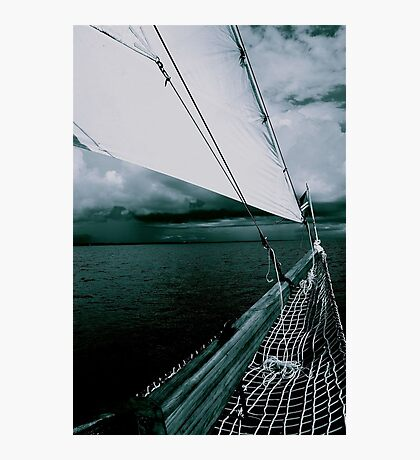 Sailing into a Storm Black and White Photographic Print