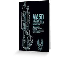MA5D Assault Rifle Greeting Card