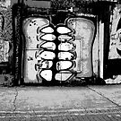 Graffiti Mouth - Black and White by MaggieGrace