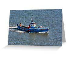 Whitby Fishing Boat Greeting Card