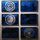 """6 Secret Postcards Blues - """"Bleu Méditerranée""""  by Pascale Baud"""