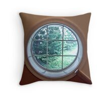 Porthole Window Throw Pillow