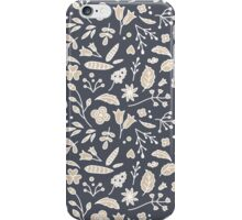 Pattern of Flowers in Frame iPhone Case/Skin
