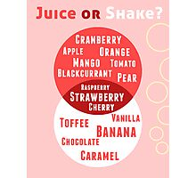 Juice or Shake Photographic Print