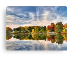 Pond of fall colors Canvas Print