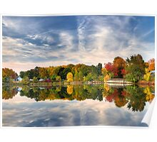 Pond of fall colors Poster