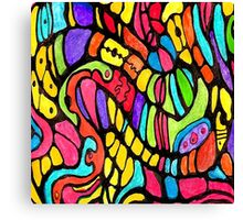 Poly Swirls Canvas Print