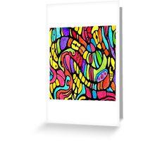 Poly Swirls Greeting Card