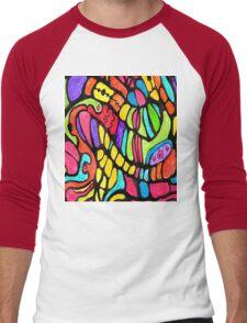Poly Swirls Men's Baseball ¾ T-Shirt
