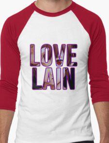Let's all Love Lain! Men's Baseball ¾ T-Shirt