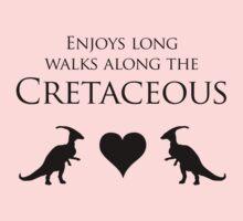 Enjoys Long Walks Along The Cretaceous One Piece - Short Sleeve