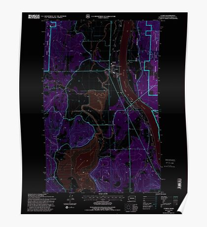 USGS Topo Map Washington State WA Cusick 240764 1992 24000 Inverted Poster