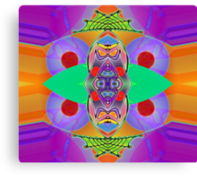 """""""Peter Max & the Day Glo Dream"""" is an Upside-Down Art, Masg Art, Upsidedownism, Ambigram Art or Upside-Down Drawing by Upside-Down Artist, L. R. Emerson II  Canvas Print"""