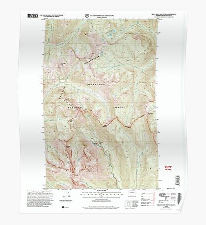 USGS Topo Map Washington State WA Billy Goat Mountain 240060 2002 24000 Poster