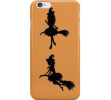 Witch with Broom Silhouette iPhone Case/Skin