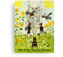 Bar Flies Versus Daisies Canvas Print